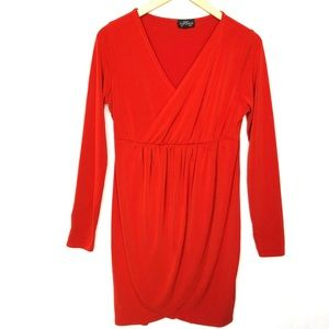 Topshop Maternity Wrap Dress 8 Dark Orange